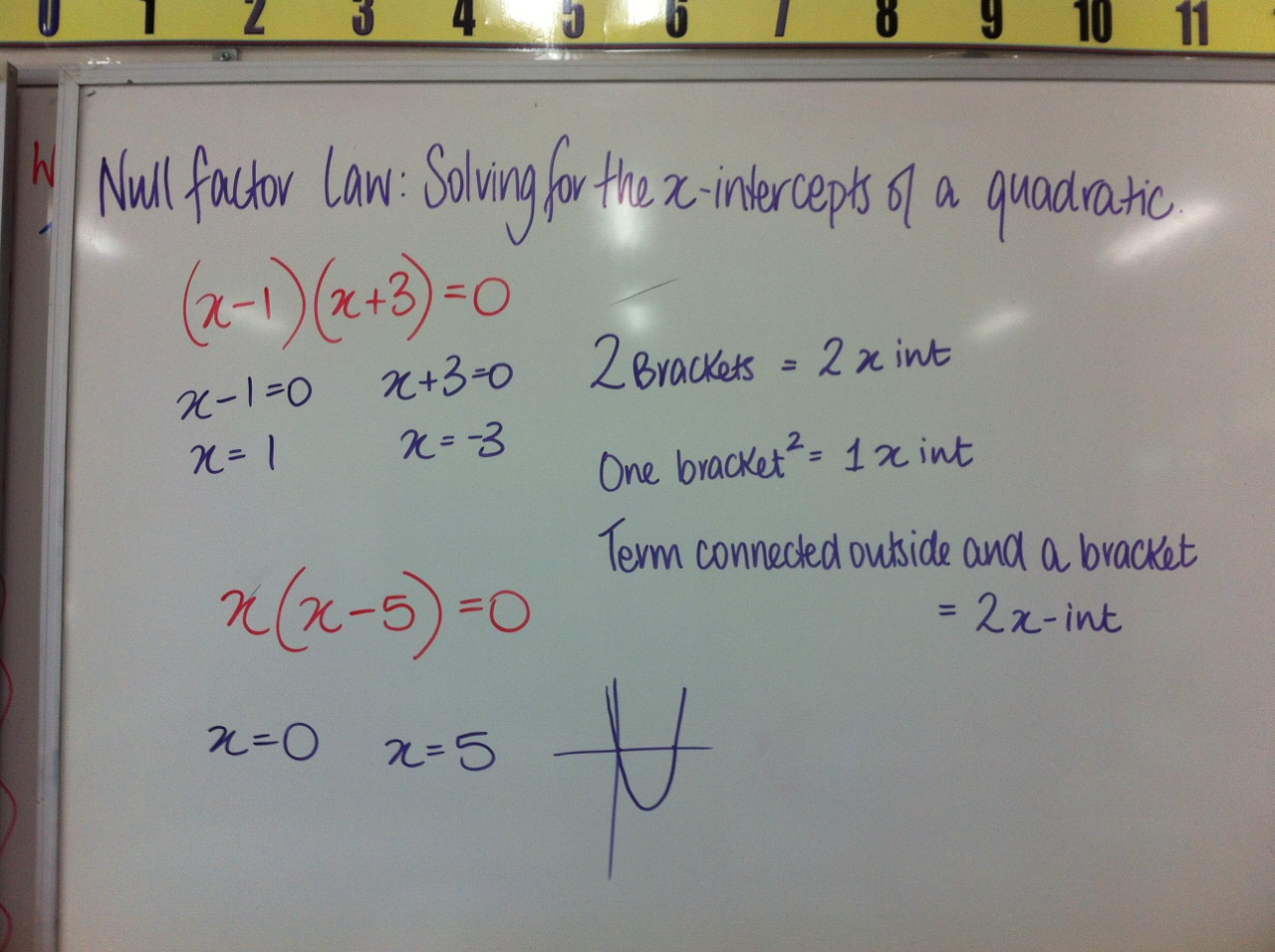 Year 10 Quadratics Boardwork And Worksheets With Answers