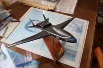 В музее ЛИИ. Моделька самолета М-60
