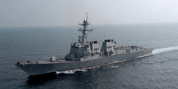 USS Mason Launches Three Interceptors to Defend Against Yemen Cruise Missile Attack