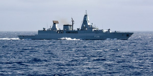 German Frigate Damaged in SM-2 Failure