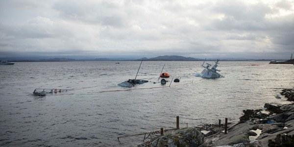 Norwegian Aegis Frigate Struck by Oil Tanker Sinks