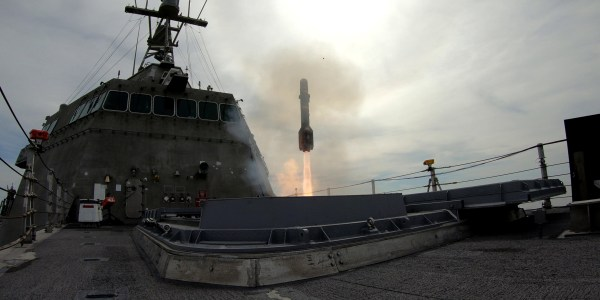 US Navy Tests Hellfire Missile On Littoral Combat Ship