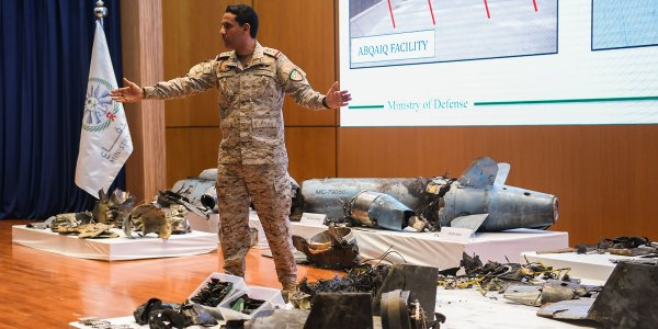 Saudi Arabia Displays Drones, Missiles Used in Oil Facility Attack