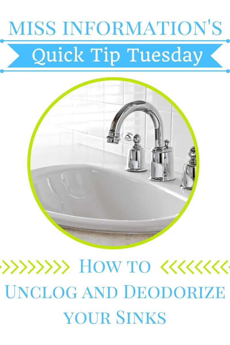Easy Way To Unclog Your Sink  Miss Information
