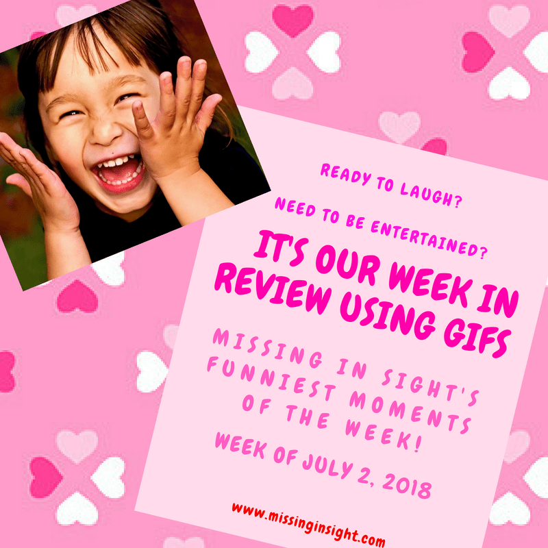 "Welcome to ""My Week in Review Using Gifs!"" This is a weekly Sunday post where I comically discuss the TMI ups and downs of my week using gifs.   So, if you are wanting to laugh and to be entertained, this short but sweet post is for you!"