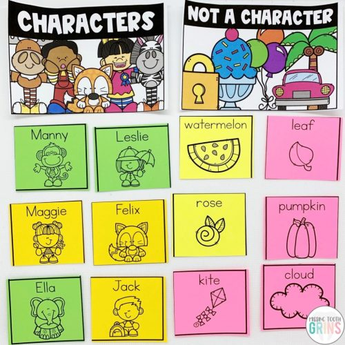 small resolution of Teaching Main Character And Character Traits - Missing Tooth Grins