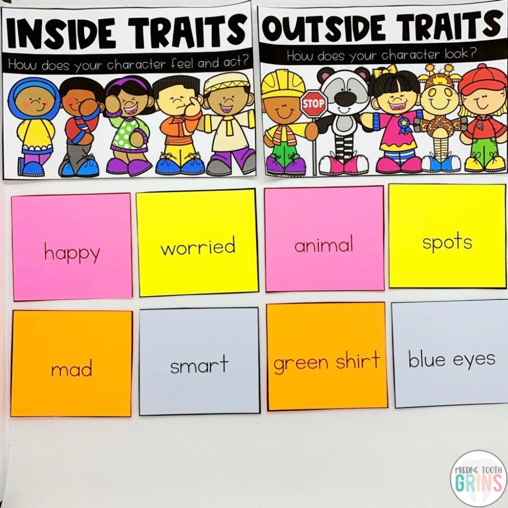 medium resolution of Teaching Main Character And Character Traits - Missing Tooth Grins