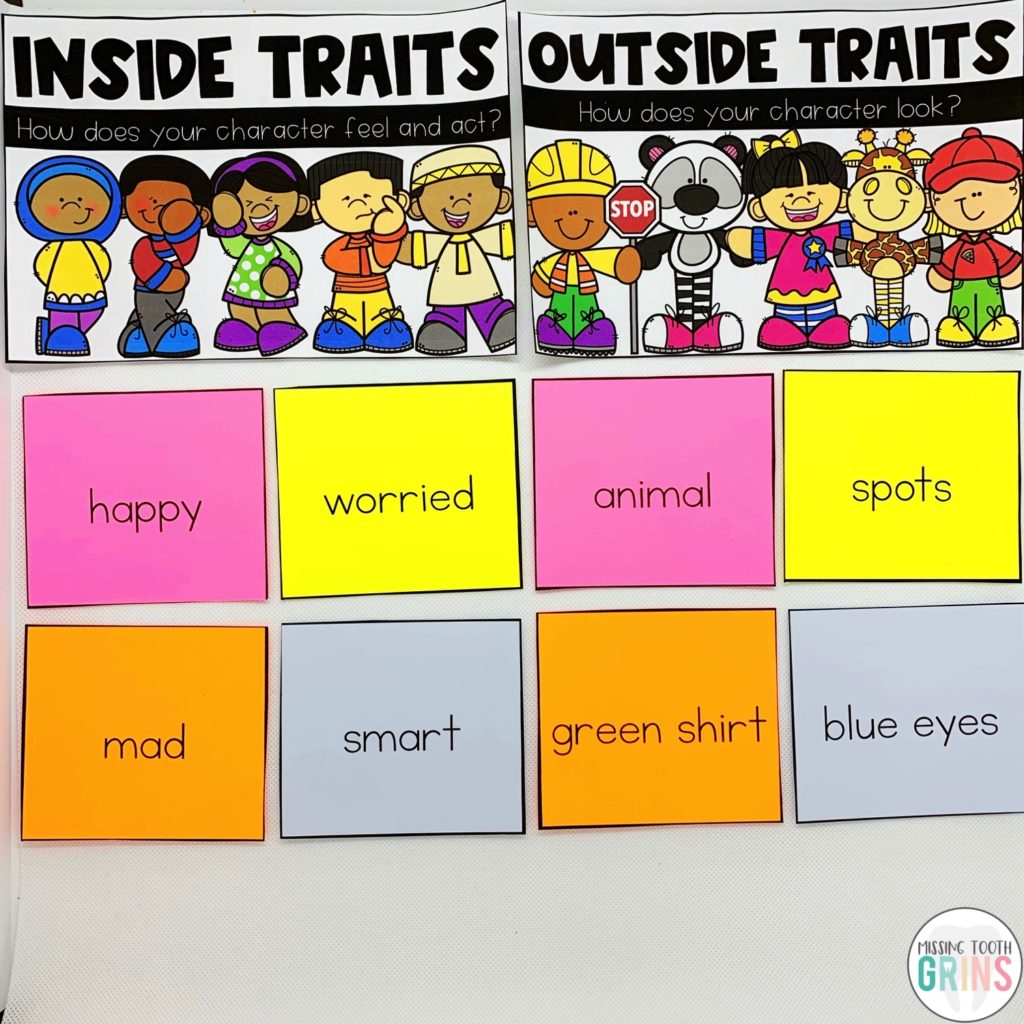 hight resolution of Teaching Main Character And Character Traits - Missing Tooth Grins
