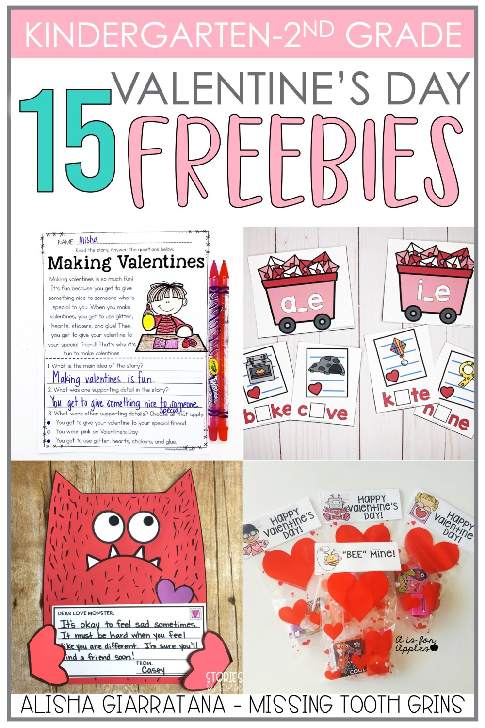 medium resolution of Valentine's Day Freebies for K-2 - Missing Tooth Grins