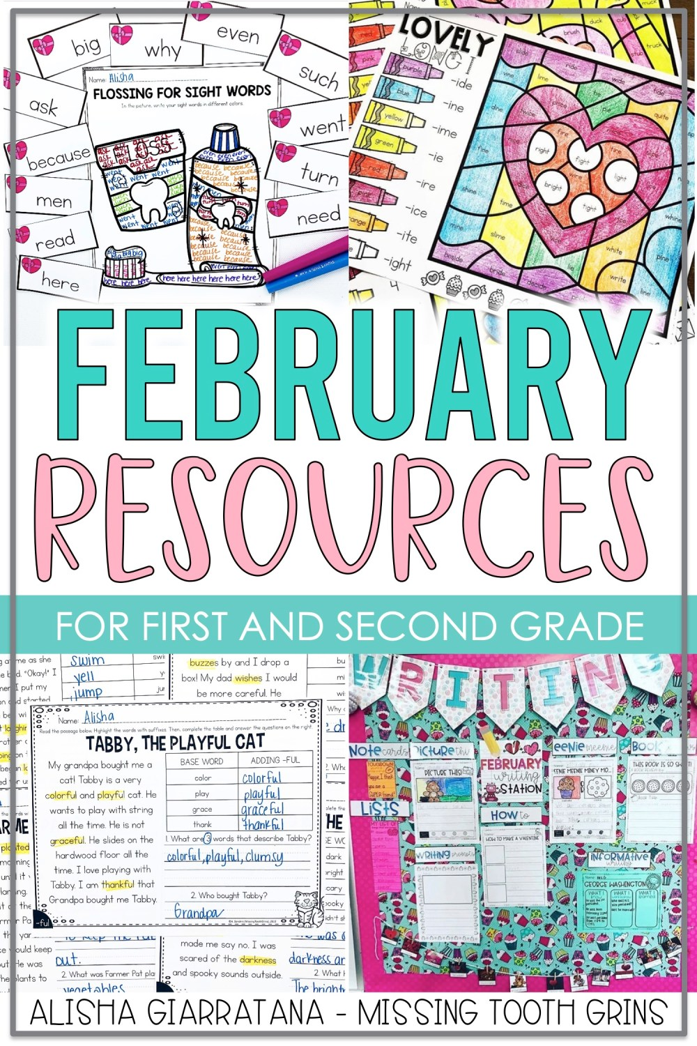 medium resolution of February Resources For 1st Grade Teachers - Missing Tooth Grins