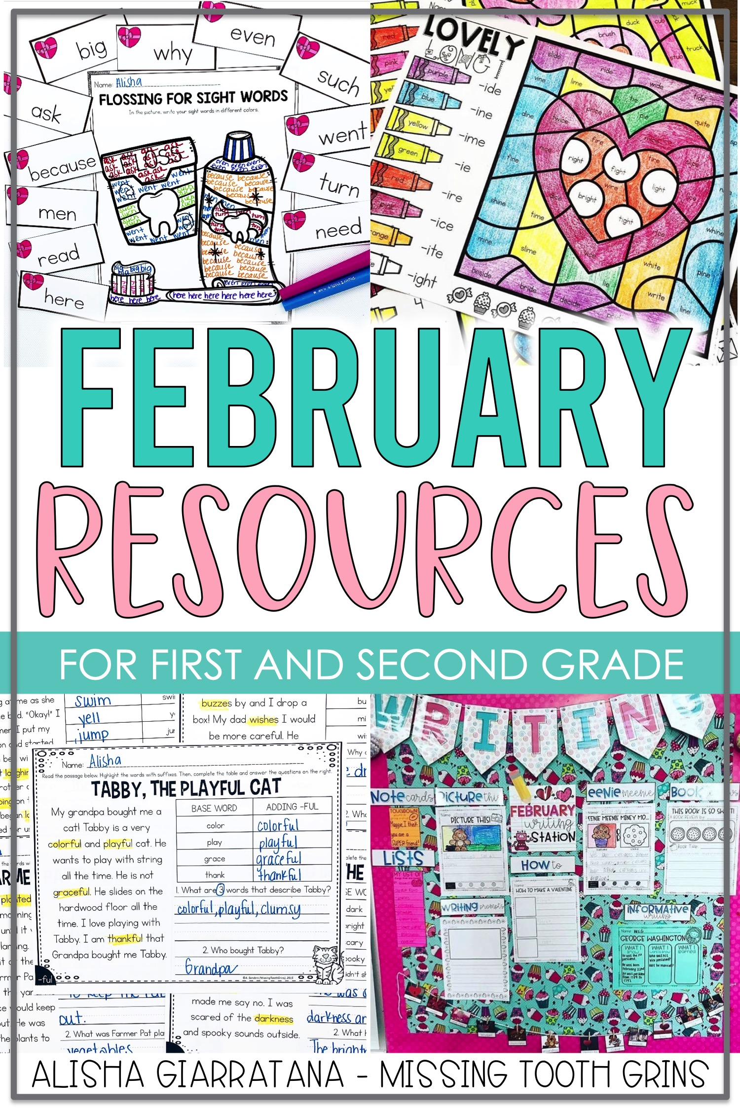 hight resolution of February Resources For 1st Grade Teachers - Missing Tooth Grins