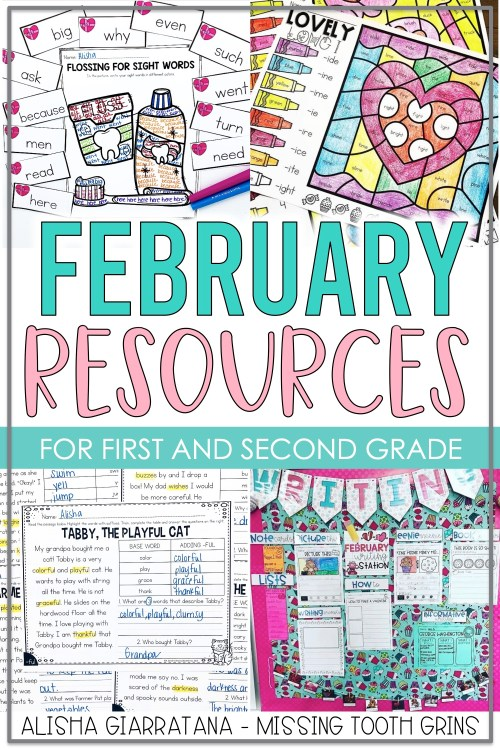 small resolution of February Resources For 1st Grade Teachers - Missing Tooth Grins