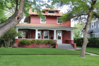 Традиционный американский дом в стиле Foursquare. Источник montanahistoriclandscape.com/tag/montana-four-square/