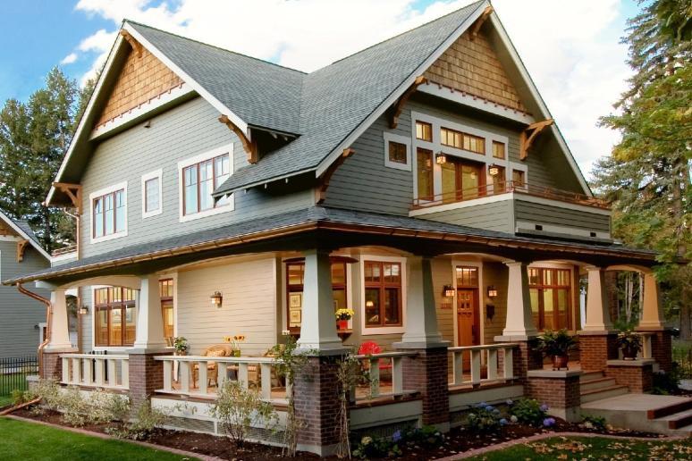 Классический дом в стиле Craftsman. Источник galleryhip.com