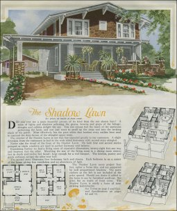 Американский дом: план, бунгало шале. 1920 год, компания Aladdin Company. Источник http://www.antiquehomestyle.com/
