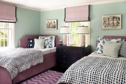 Мятный интерьер спальня. Источник houzz.com
