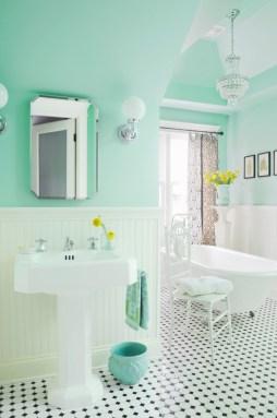 Мятный интерьер ванная. Источник houzz.com