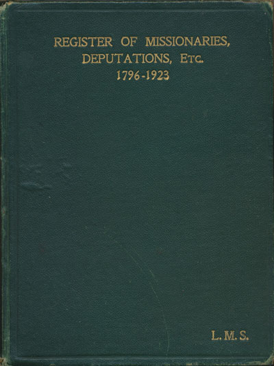 Register of London Missionary Society Missionaries