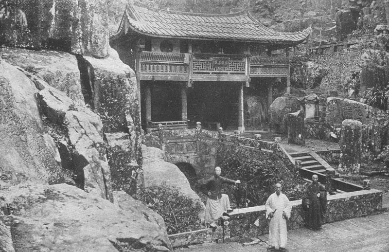 """A Buddhist Temple and Priests. Maud Elizabeth Boaz [1873-1937], """"And the Villages thereof"""", page 48."""