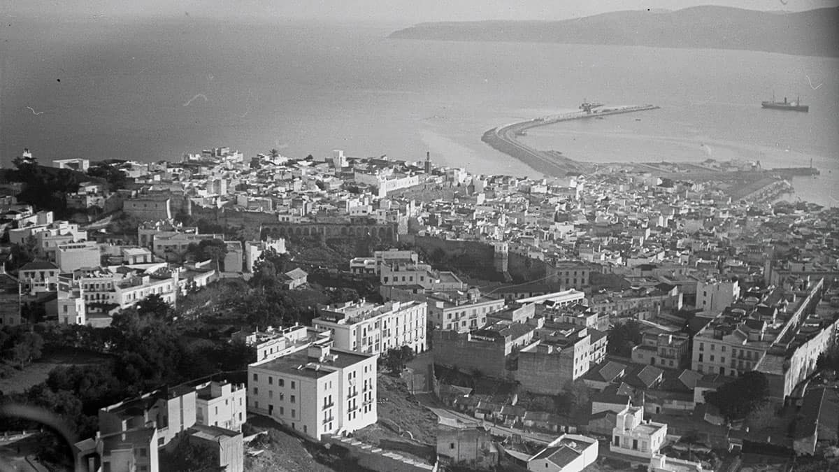Aerial view of Tangier in 1932
