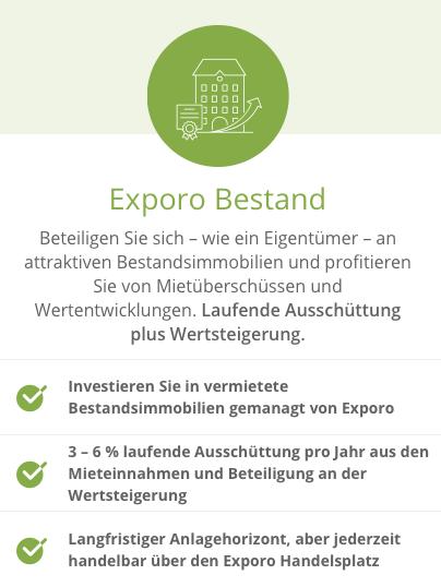 Exporo Bestand - In Immobilien investieren