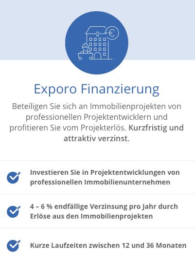 Exporo Finanzierung - In Immobilien investieren