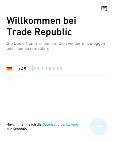 Trade Republic - Anmeldung 1a