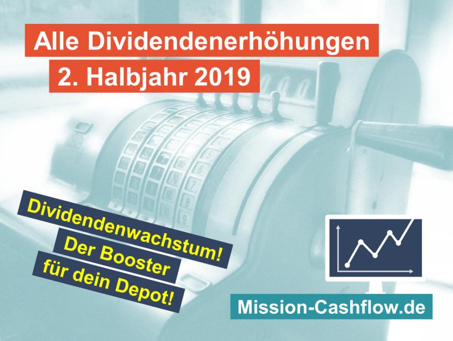 2. Halbjahr 2019: Dividendenwachstum ist der Booster für dein Depot!