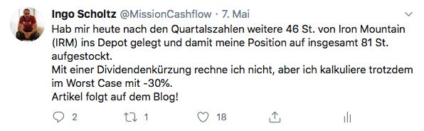 Mission-Cashflow.de auf Twitter Mai 2020