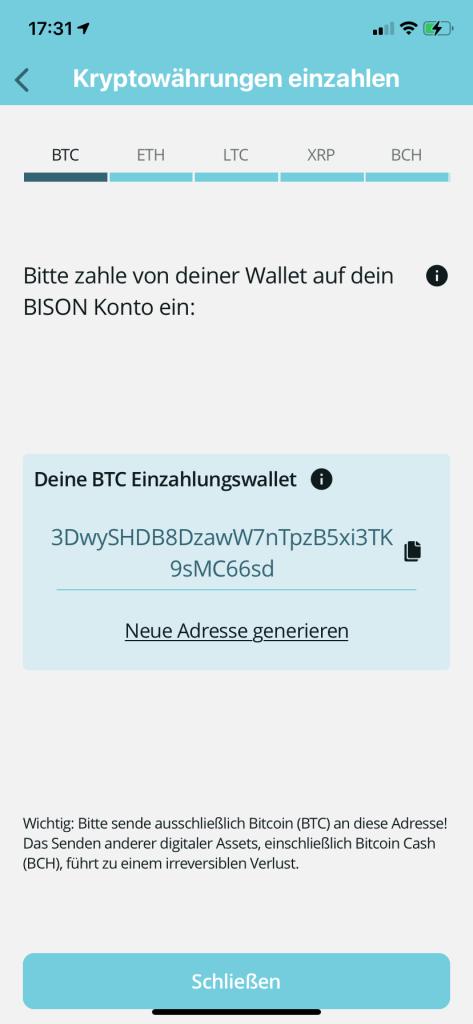 Bitcoin kaufen in 2020 - Bison App 5