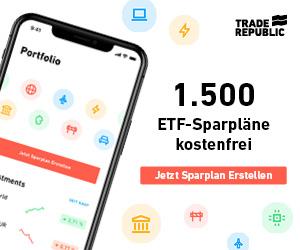 Trade Republic - 1.500 ETFs besparen