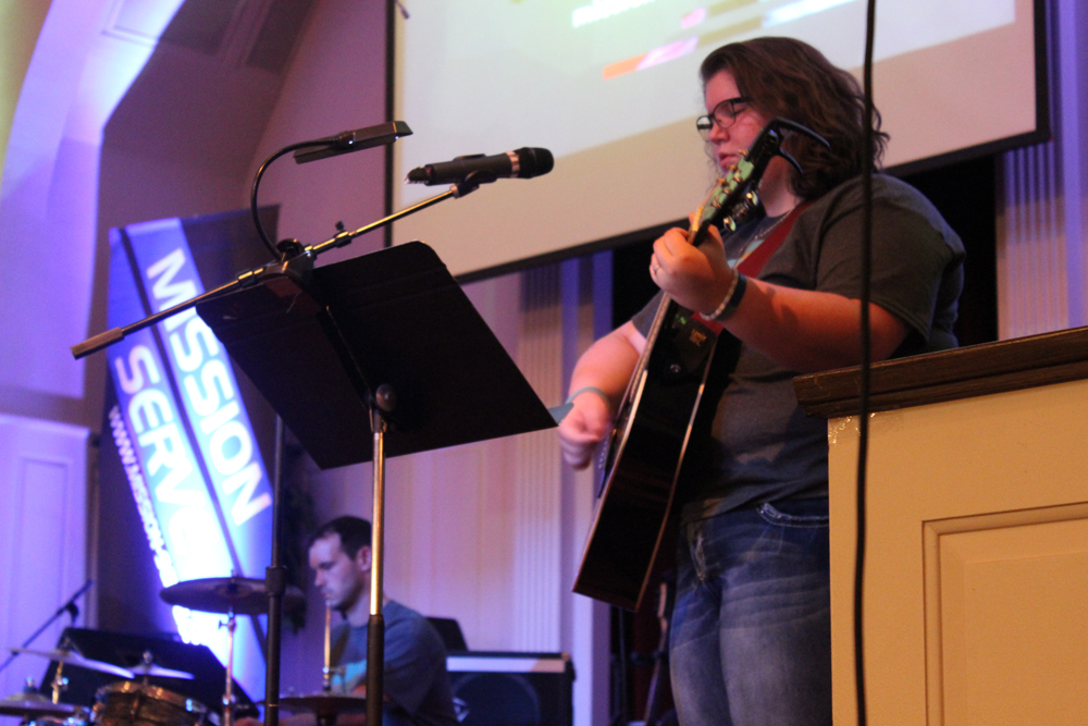 Our band Never2Late leading worship