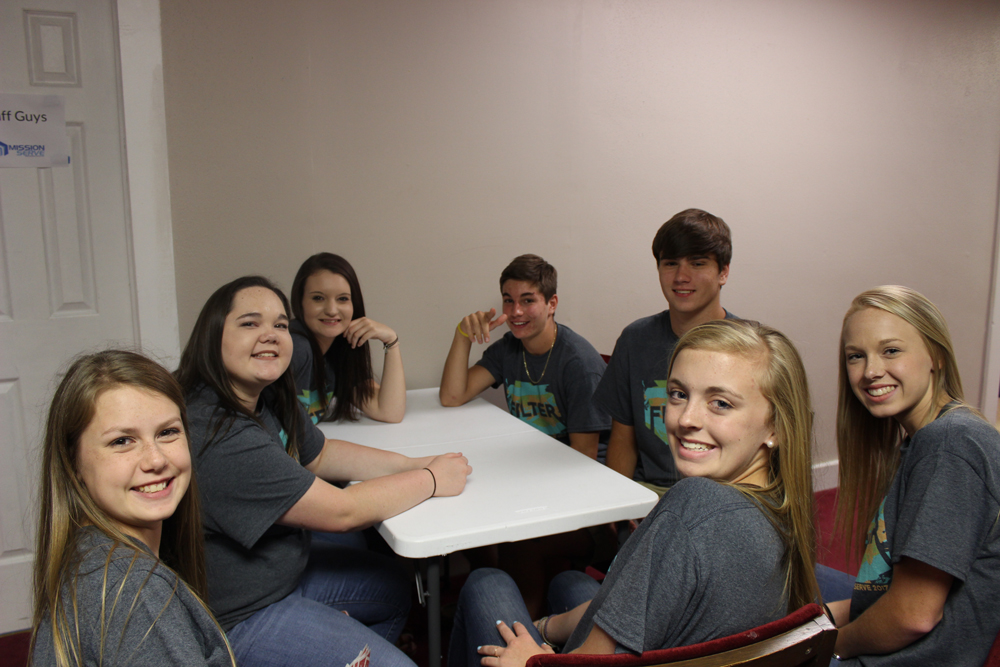Participants enjoying time together at the lodging facility