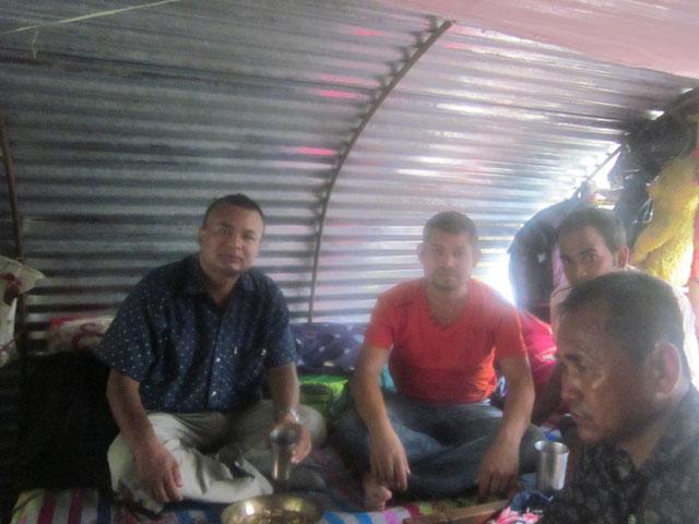 hiemt-team-and-rajendra-nhisutu-during-tea-time