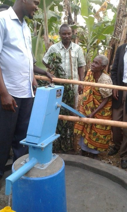 The new well means clean water