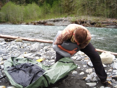 Inflating The Packraft