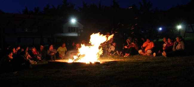 Bonfire to launch small groups with the teenagers at an orphanage