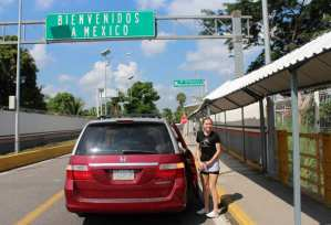 Entering Mexico from Guatemala