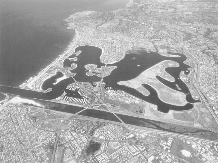 historic photo of Mission Beach and Bay