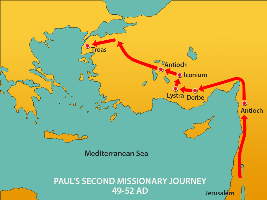 Paul S 2nd Journey Macedonian Vision Mission Bible Class