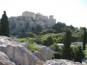 View of the Parthenon from Areopagus
