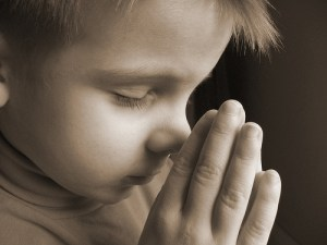 child praying