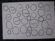Fill the page with circles and then fill them in with thoughts and ideas you have learned in the Bible story.