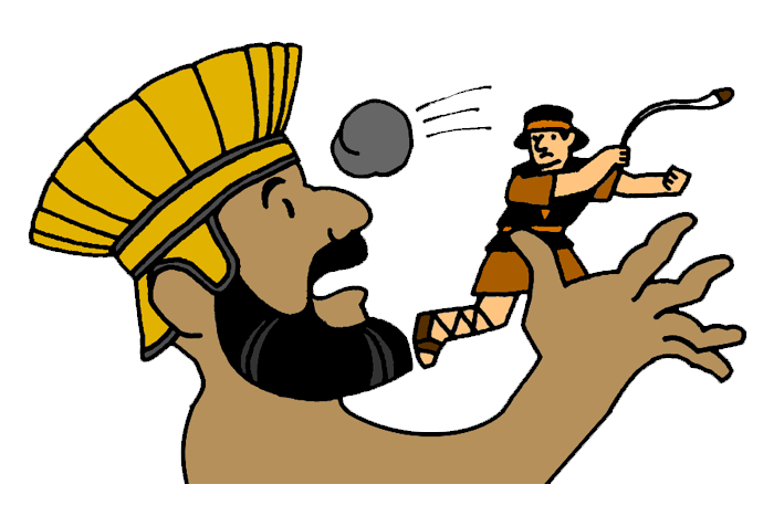 graphic relating to David and Goliath Printable Story titled David and Goliath Mission Bible Cl