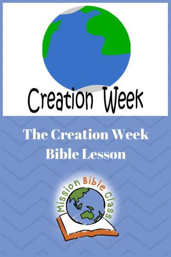 Creation Week Pin