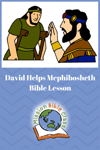 David Helps Mephibosheth Pin