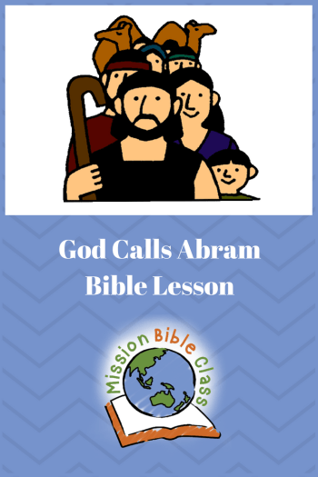 God Call Abram Pin