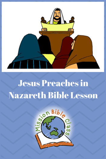 Jesus Preaches in Nazareth Pin