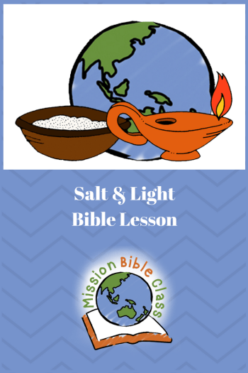 Jesus Teaches About Salt and Light Pin