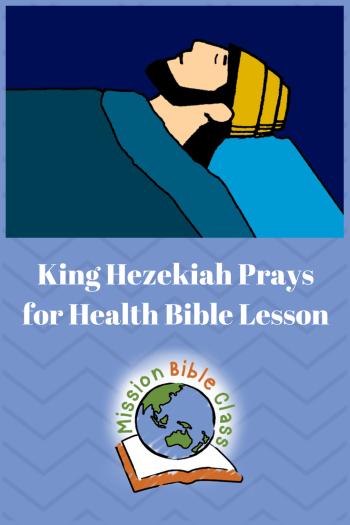 King Hezekiah Prays for Health Pin